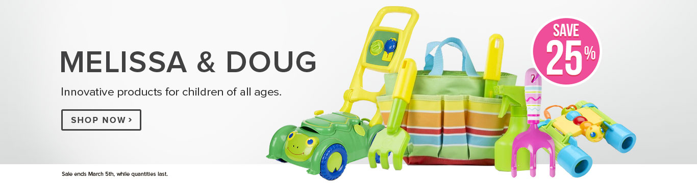 Save 25% on Melissa & Doug