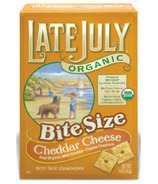 Late July Organic Cheddar Cheese Bite Size Crackers