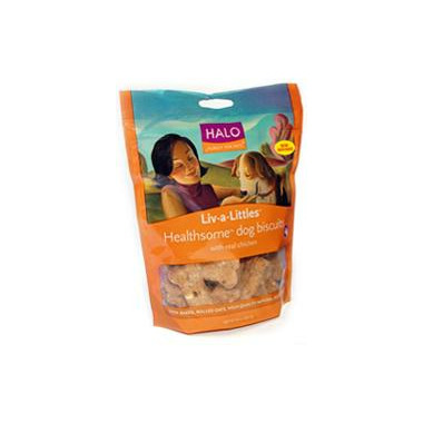 Halo Liv-A-Littles Healthsome Dog Biscuits With Real Chicken