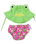 Zoocchini Swim Diaper & Sun Hat Set Frog