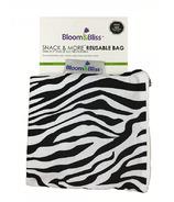 Bloom & Bliss Snack Bag & More Reusable Bag Zebra