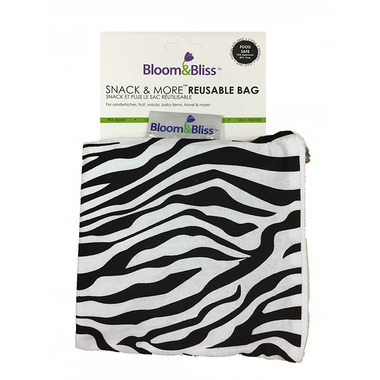 Bloom & Bliss Snack Bag & More Reusable Bag Zebra