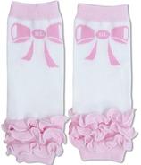 BabyLegs Organic Newborn Leg Warmers Bow Peep