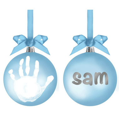 Pearhead Babyprints Blue Ball Ornament