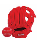 "Franklin Sports 9.5"" RTP Performance Glove and Ball Red"