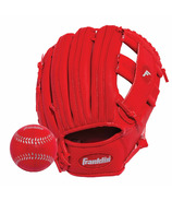 """Franklin Sports 9.5"""" RTP Performance Glove and Ball Red"""