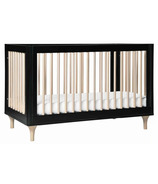 Babyletto Lolly 3-in-1 Convertible Crib Black and Washed Natural