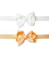 Baby Wisp Bowtastic Headband Peach & White