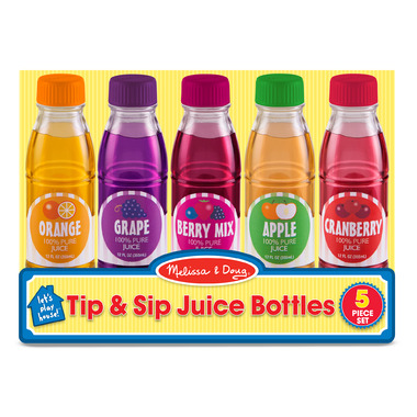 Melissa & Doug Tip and Sip Toy Juice Bottles
