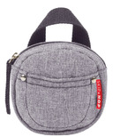 Skip Hop Grab & Go Pacifier Pocket Heather Grey