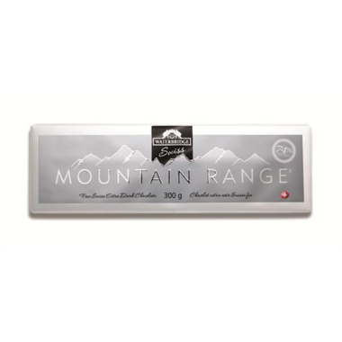 Waterbridge Swiss Mountain Range Extra Dark Chocolate Bar