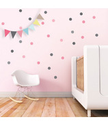 Trendy Peas Wall Decals Confetti Grey & Pink