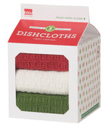 Now Designs Milk Carton Dishcloth Set Holiday