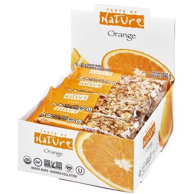 Buy taste of nature organic food bar at free for Food bar orange
