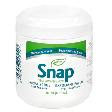 Snap Clear Skin Facial Scrub with Tea Tree