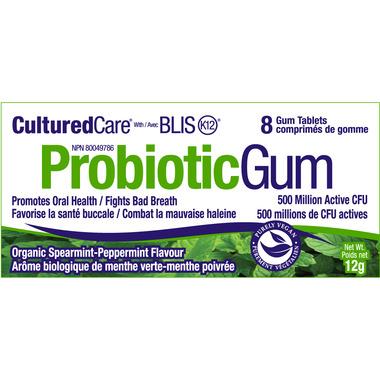 CulturedCare Probiotic Gum with BLIS-K12 Spearmint/Peppermint