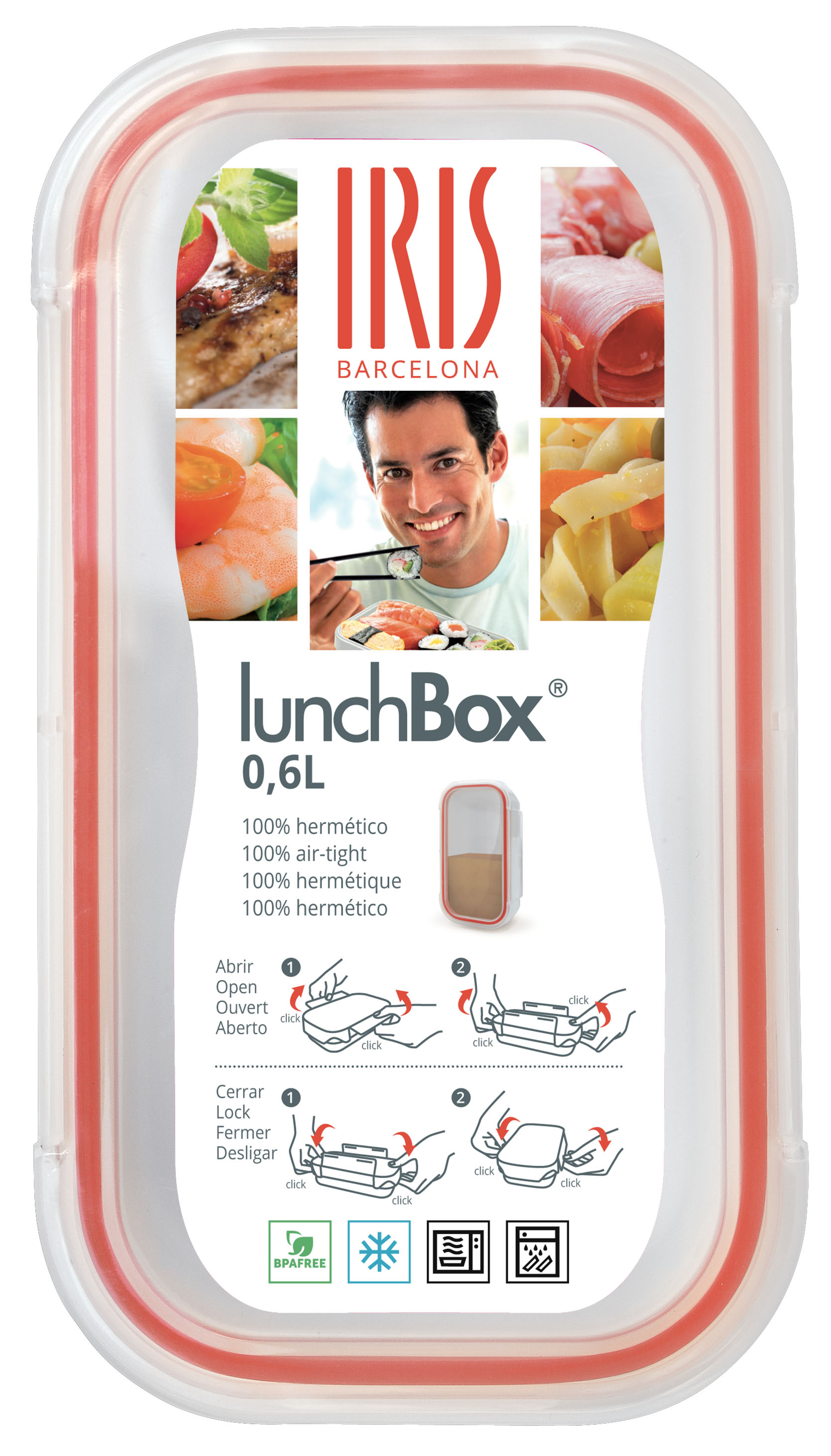 Buy iris barcelona easy open lunchbox container at for Decor 6 piece lunchbox