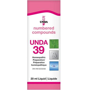 UNDA Numbered Compounds UNDA 39 Homeopathic Preparation