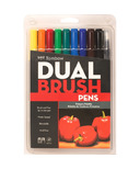 Tombow Primary Palette Dual Brush Pen Set