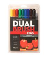 Tombow Primary Palette Dual Brush Pen Set