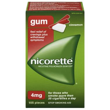 NICORETTE Gum Cinnamon