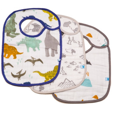 Little Unicorn Cotton Classic Bibs Dino Friends