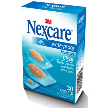 3M Nexcare Waterproof Clear Bandages