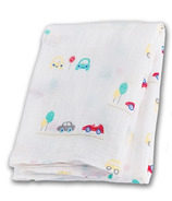 Lulujo Baby Muslin Cotton Swaddling Blanket Vroom
