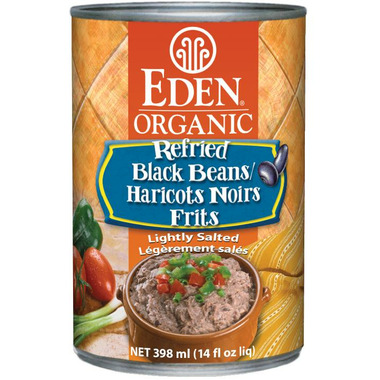 Eden Organic Canned Refried Black Beans