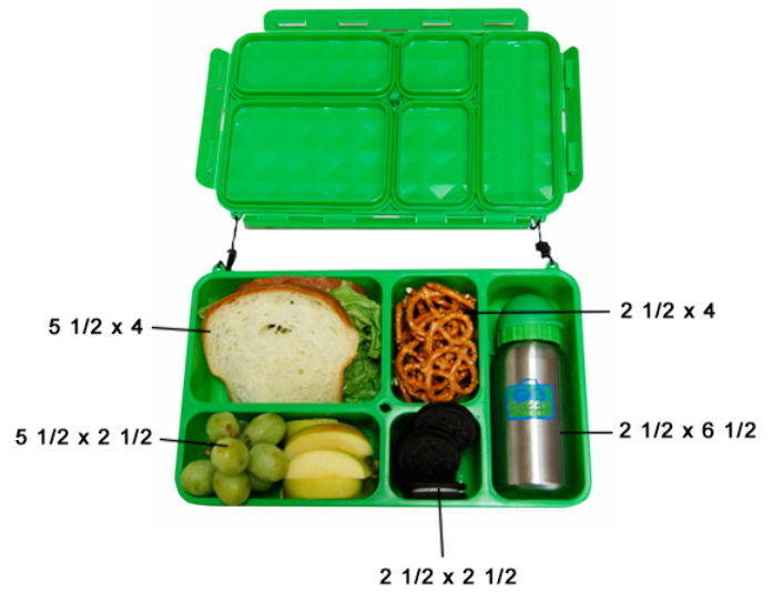 buy go green lunch box candy store at free shipping 35 in canada. Black Bedroom Furniture Sets. Home Design Ideas