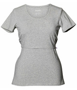 Boob Classic Short Sleeve with Organic Cotton Grey Melange