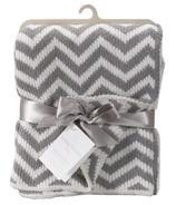 Living Textiles Chenille Blanket Grey Chevron